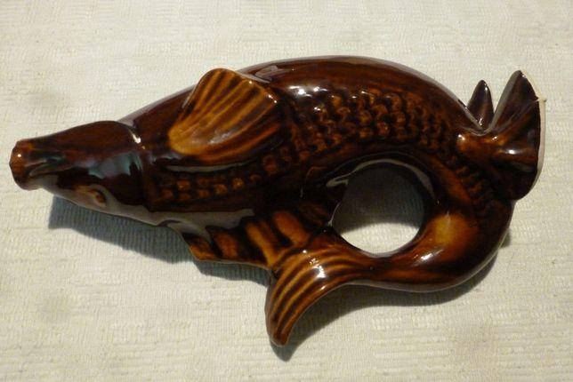 Karafka, kamionka ryba, w bardzo dobrym stanie, pamiątka XX wieku