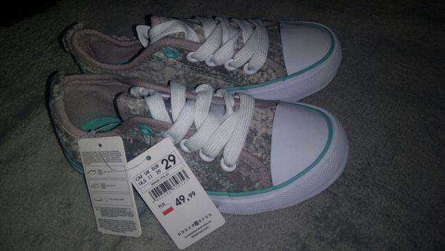 Buty chłopięce nowe trampki tenisówki moro idealne na wiosnę 29