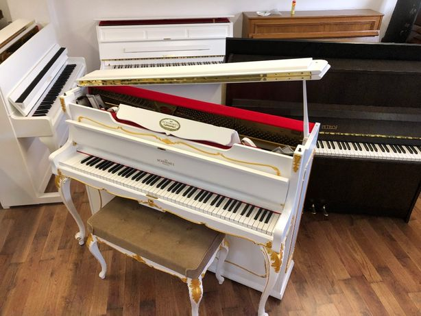 Pianino Schimmel złocone biale