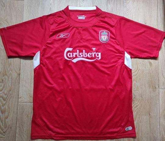 Reebok Ливерпуль винтажная футбольная футболка Джеррард