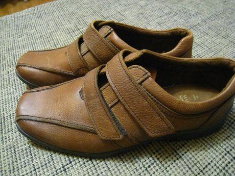 кожаные мужские туфли кроссовки на широкую ногу, р.44