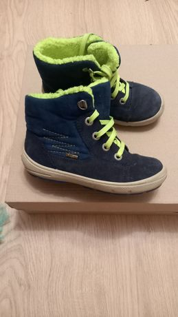 Кожаные деми ботинки на мальчика superfit 28размер gore-tex