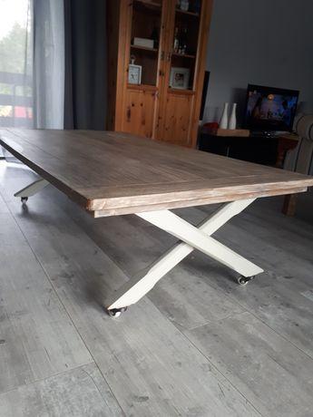 Stół ława lite drewno industrialny