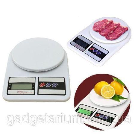Весы кухонные электронные SF-400 до 10кг точность 1 грамм + Батарейки
