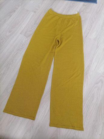 Szerokie spodnie wysoki stan vintage r. L