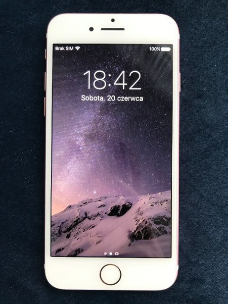 Apple iPhone 7 32GB Rose Gold Stan Idealny Komplet