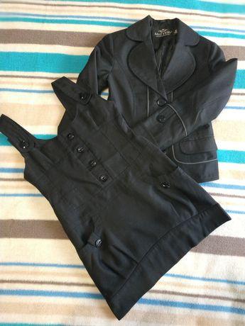 Костюм школьный сарафан и пиджак
