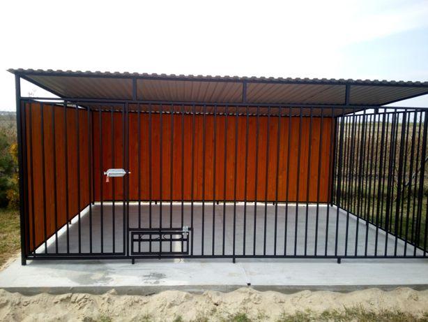 Kojec 4x2 zabudowany klatka dla psa/psów małopolskie