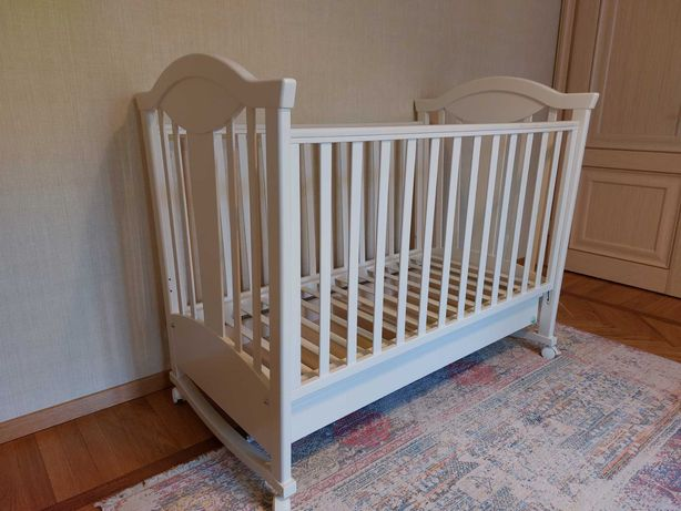 Детская кровать-люлька MyBaby Glamour Bunny