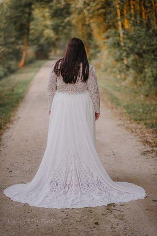 Suknia ślubna z frenem