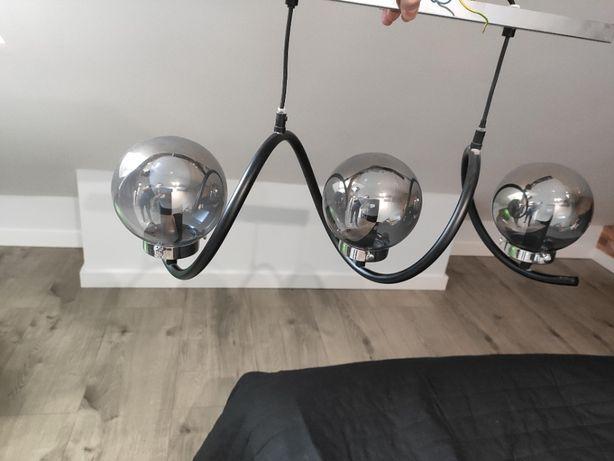Lampa OBI wisząca aluminium, szary przezroczysty, przydymiany klosz