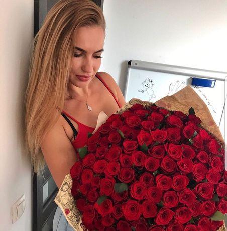 25 красных роз Днепр! Цветы, букеты роз. Доставка цветов по Днепру.