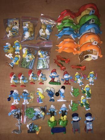 Kinder niespodzianka figurki z bajki Smerfy domki zamienię