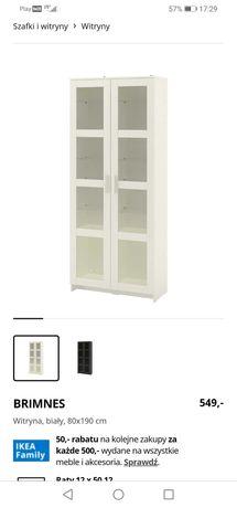Biała szafka ze szkła