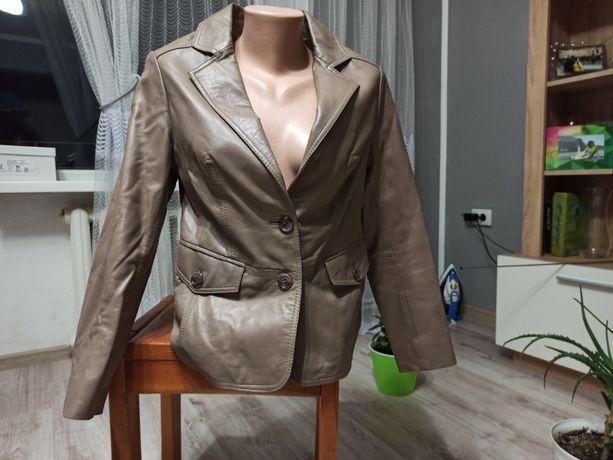 Кожаный пиджак,короткая куртка, жакет ALBA MODA