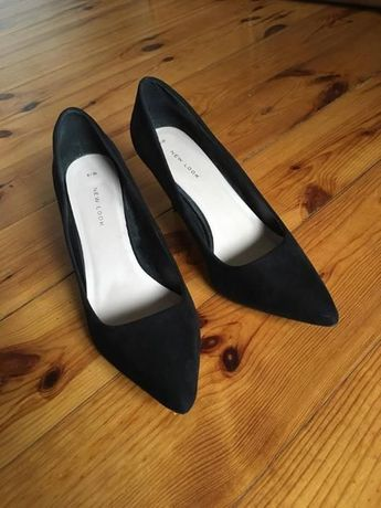 czarne klasyczne szpilki new look