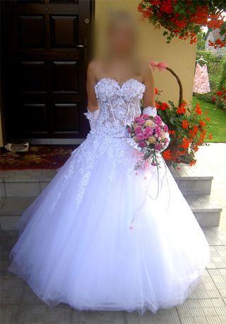 Suknia ślubna piękna kryształki Swarovskiego