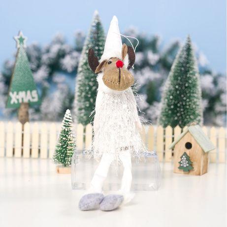 Renifer Świąteczny Boże Narodzenie Siedzący 37 Cm