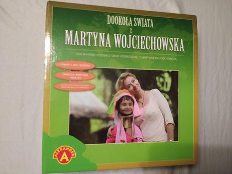 """Gra planszowa """"Dookoła świata"""" z Martyną Wojciechowską - jak nowa"""
