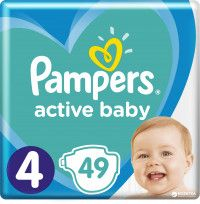 Подгузники Pampers active baby 3/58 4/49 4+/45 5/42