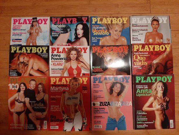 Playboy rocznik 2001-komplet 12szt