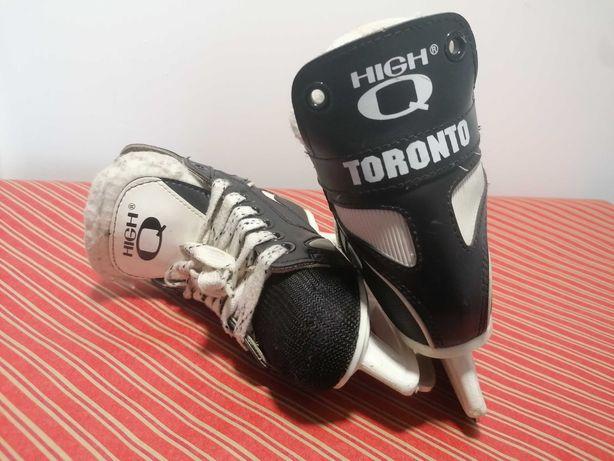 Łyżwy hokejowe rozmiar 29 czarne