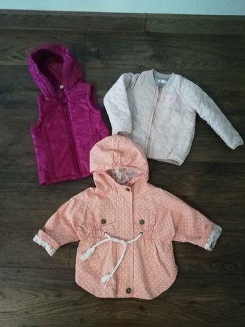 Paka ubrań dla dziewczynki r. 86-98