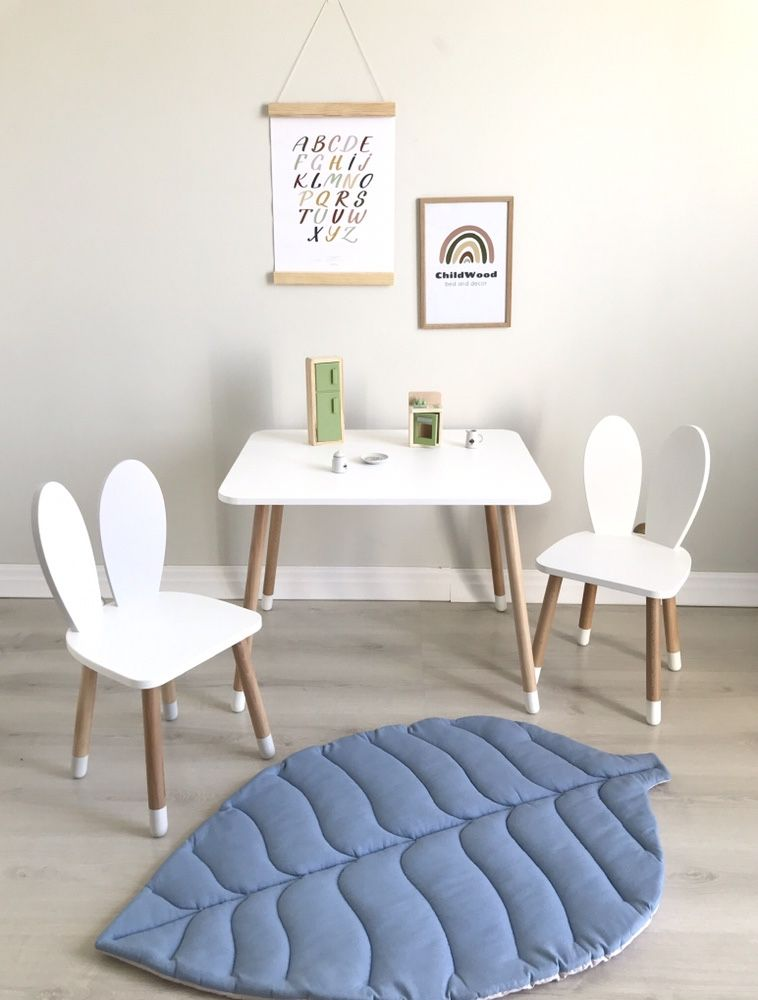 В НАЛИЧИИ! Детский стол и стульчик, дитячий стіл, ствльчик зайка
