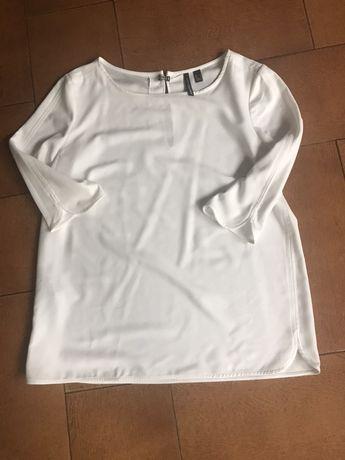 Bluzka kremowa Mango L
