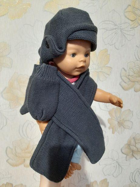 Продам комплект шапка, шарф и рукавички