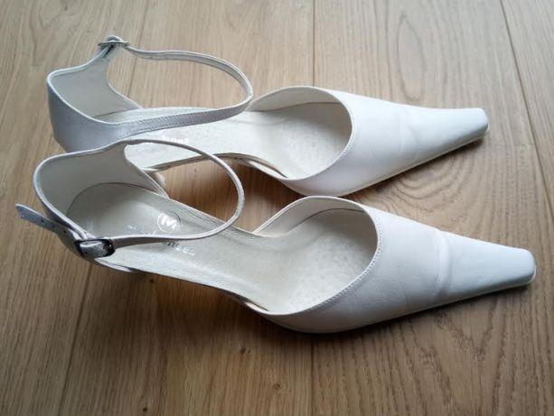 Buty ślubne białe nowe. Rozmiar 37. Obcas 5 cm. Nigdy nie używane
