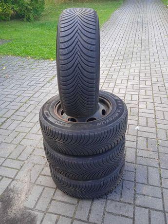 Opony zimowe z felgami 205/65/15 Michelin Alpin 5
