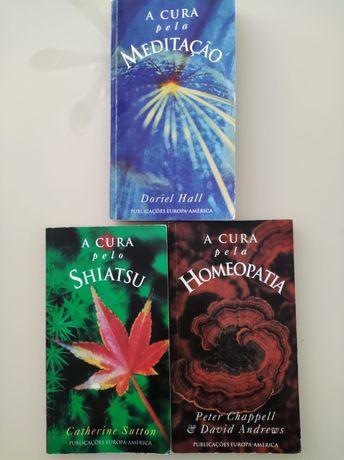 A cura pela meditação, homeopatia e Shiatsu. Publicações Europa americ