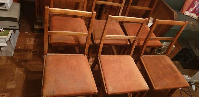 Stare krzesła do renowacji, 6 szt.