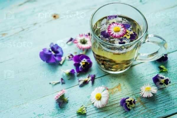 Чай ромашковый с цветами.  Вес – 25 грамм