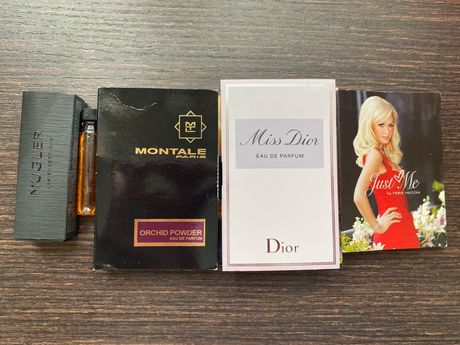Mugler, Dior, Lacoste,Montale