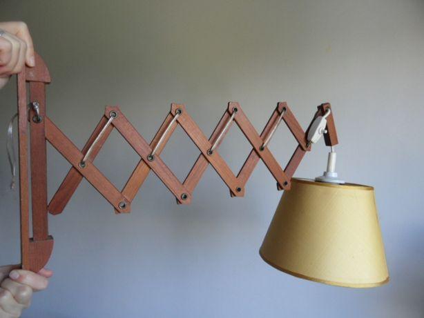 Raridade Vintage, Candeeiro basculante em madeira.