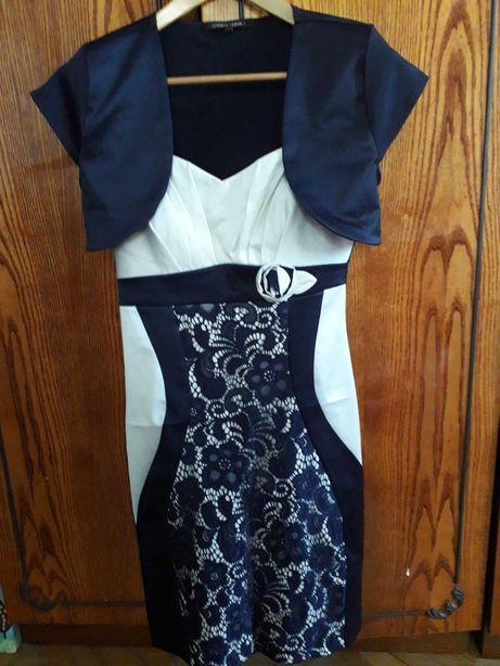 Платье атласное, 38 размер