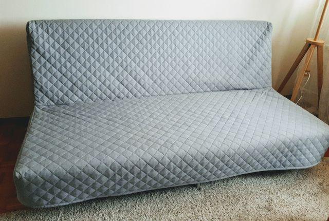 kanapa ikea , rozkładana, kolor szary