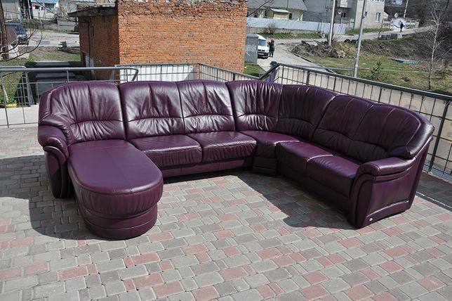 П-образный, кожаный уголок. Кожаный диван. himolla. Диван из Европы.