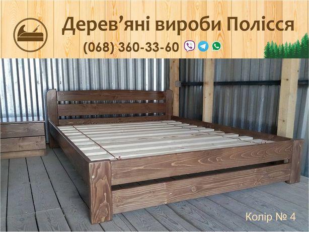 Деревянная Двуспальная кровать Рольф4 140х200 цельный массив сосны