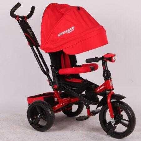 Трехколесный велосипед-коляска Crosser T-400 TRINITY AIR красный