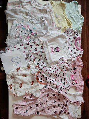 Mega Paczka zestaw ciuszkow dla dziewczynki od 56 do 80. 91 sztuk