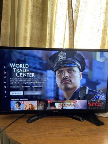 """Smart Tv FullHD 32"""" Nova c/ Comando"""