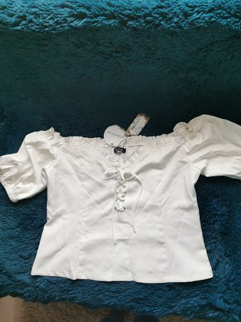 Bluzka kremowa hiszpanka