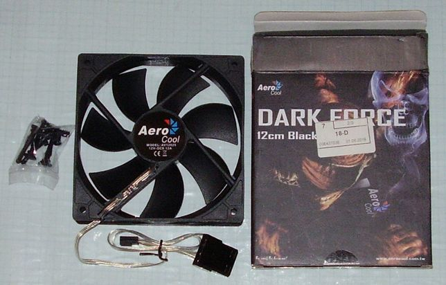 Кулер Aerocool Dark Force 120 mm Black (новый)