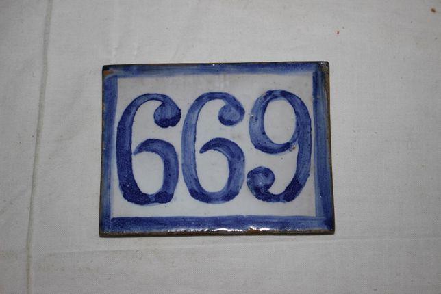 Vários Números de porta - Antigos - Cerâmica vidrados - tipo azulejo