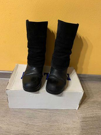 Sale. Зимние натуральные ботинки, полусапоги в отличном сост. р.36