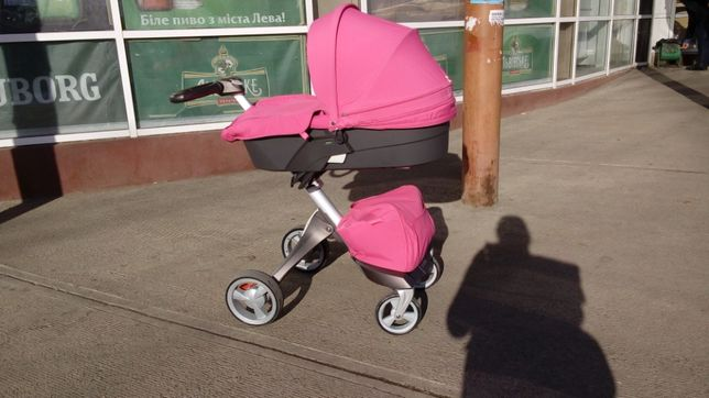 Stokke xplory розовая коляска полный комплект