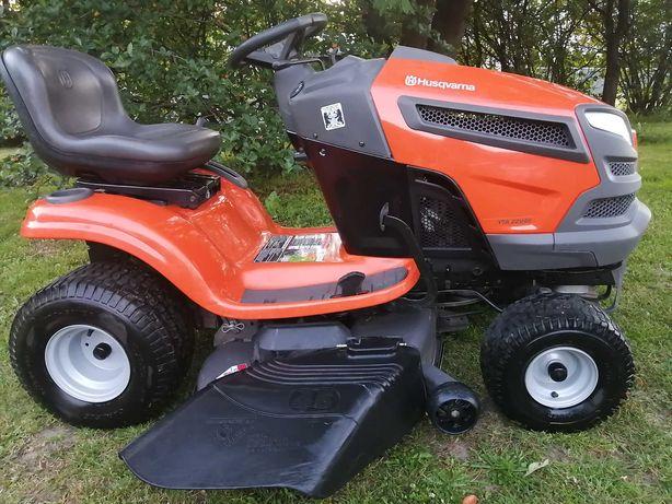 Traktorek kosiarka marki Husqvarna o mocy 22 km